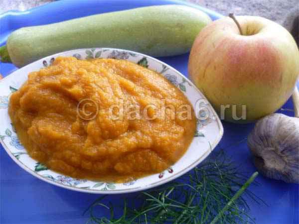 Кабачковая икра с яблоками на зиму