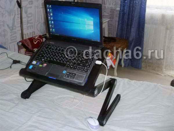 Обзор столика для ноутбука Crown CMLS 102 для лежачих больных