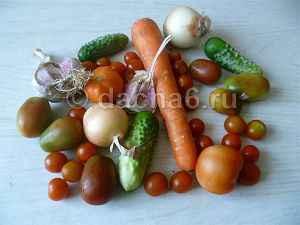 Таблица калорийности овощей и зелени